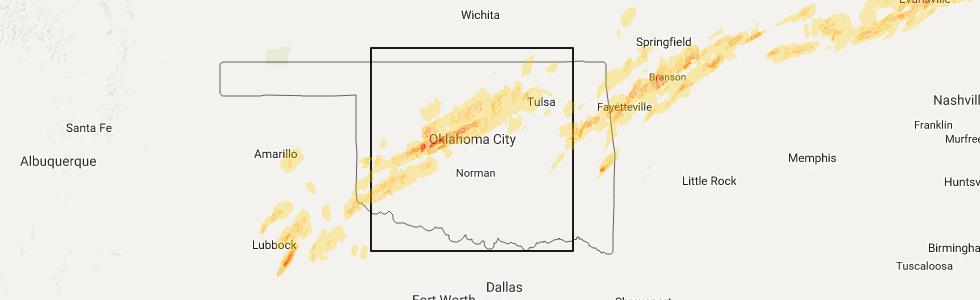 Interactive Hail Maps Hail Map for Muskogee OK