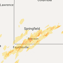 Hail Map for springfield-mo 2017-04-28