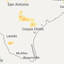 Regional Hail Map for Corpus Christi, TX - Saturday, April 29, 2017