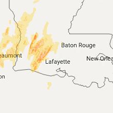 Hail Map for lafayette-la 2017-04-29