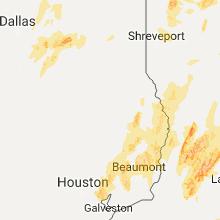 Regional Hail Map for Lufkin, TX - Saturday, April 29, 2017