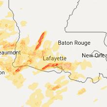 Hail Map for lafayette-la 2017-05-03