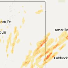 Hail Map for tucumcari-nm 2017-05-09