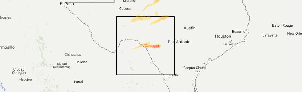 Interactive Hail Maps Hail Map for Del Rio TX