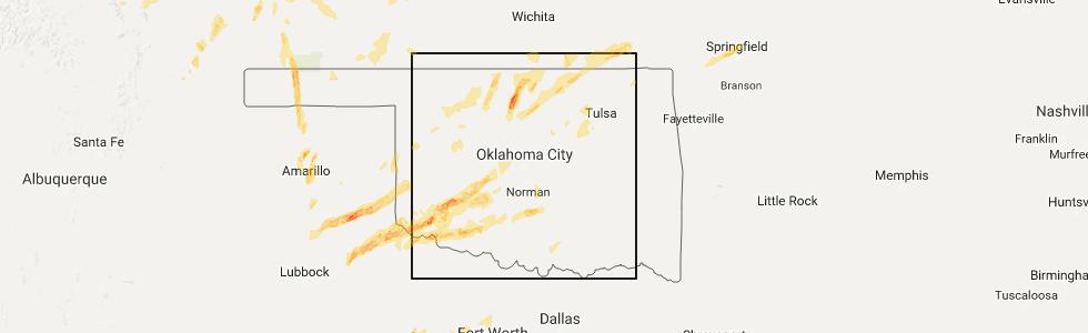Interactive Hail Maps Hail Map for Enid OK