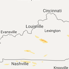 Regional Hail Map for Louisville, KY - Thursday, May 11, 2017