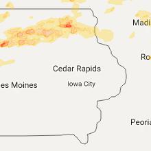 Hail Map for cedar-rapids-ia 2017-05-15