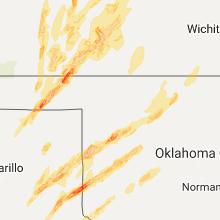 Hail Map for woodward-ok 2017-05-16