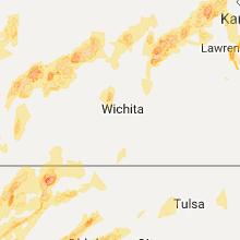 Hail Map for wichita-ks 2017-05-18