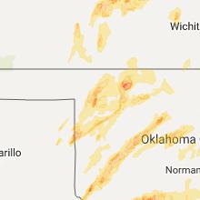 Hail Map for woodward-ok 2017-05-18