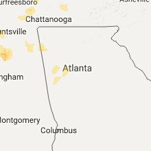 Regional Hail Map for Atlanta, GA - Saturday, May 27, 2017