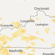 Regional Hail Map for Louisville, KY - Saturday, May 27, 2017