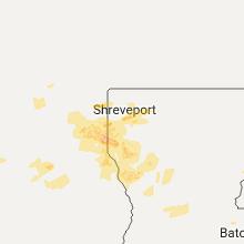 Regional Hail Map for Shreveport, LA - Sunday, May 28, 2017
