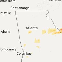 Regional Hail Map for Atlanta, GA - Monday, May 29, 2017
