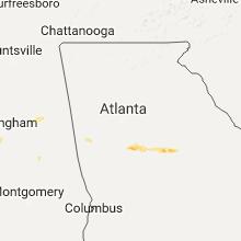 Regional Hail Map for Atlanta, GA - Tuesday, May 30, 2017