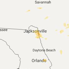 Hail Map for jacksonville-fl 2017-05-31