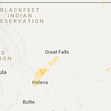 Regional Hail Map for Great Falls, MT - Thursday, June 1, 2017