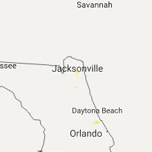 Hail Map for jacksonville-fl 2017-06-01