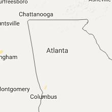 Regional Hail Map for Atlanta, GA - Saturday, June 3, 2017