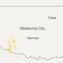 Regional Hail Map for Oklahoma City, OK - Thursday, June 8, 2017