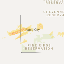 Hail Map for rapid-city-sd 2017-06-10