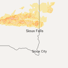 Regional Hail Map for Sioux Falls, SD - Saturday, June 10, 2017