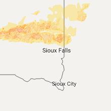 Regional Hail Map for Sioux Falls, SD - Saturday, June 10, 2017