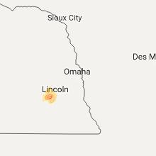 Regional Hail Map for Omaha, NE - Sunday, June 11, 2017