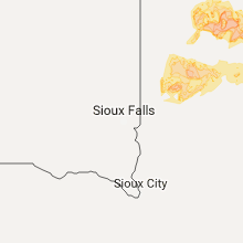 Regional Hail Map for Sioux Falls, SD - Sunday, June 11, 2017