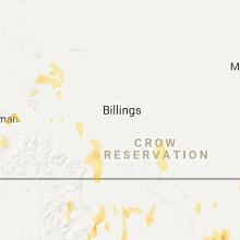 Regional Hail Map for Billings, MT - Monday, June 12, 2017