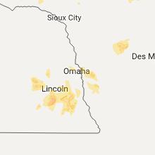 Regional Hail Map for Omaha, NE - Monday, June 12, 2017