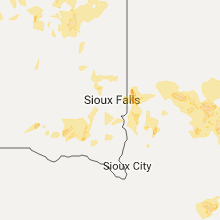 Regional Hail Map for Sioux Falls, SD - Monday, June 12, 2017