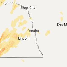 Regional Hail Map for Omaha, NE - Tuesday, June 13, 2017