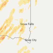 Regional Hail Map for Sioux Falls, SD - Tuesday, June 13, 2017