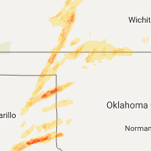 Hail Map for woodward-ok 2017-06-13