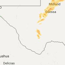 Regional Hail Map for Alpine, TX - Wednesday, June 14, 2017