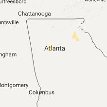 Regional Hail Map for Atlanta, GA - Wednesday, June 14, 2017