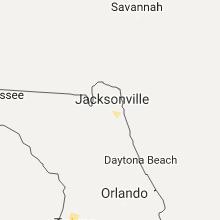 Hail Map for jacksonville-fl 2017-06-14