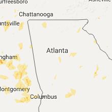 Regional Hail Map for Atlanta, GA - Thursday, June 15, 2017