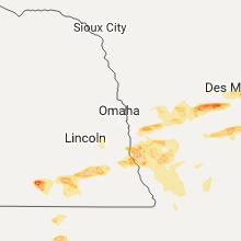 Regional Hail Map for Omaha, NE - Thursday, June 15, 2017