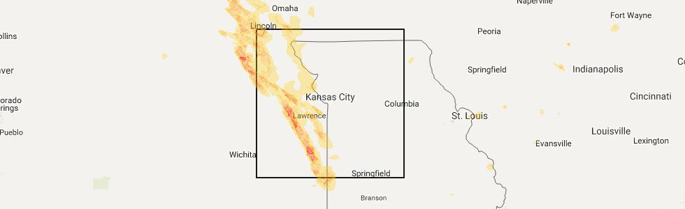 Interactive Hail Maps Hail Map for Olathe KS