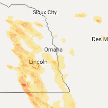 Regional Hail Map for Omaha, NE - Friday, June 16, 2017