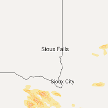 Regional Hail Map for Sioux Falls, SD - Friday, June 16, 2017