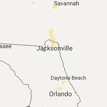Hail Map for jacksonville-fl 2017-06-17