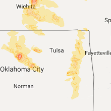 Hail Map for tulsa-ok 2017-06-17