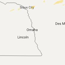 Regional Hail Map for Omaha, NE - Wednesday, June 21, 2017