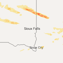 Regional Hail Map for Sioux Falls, SD - Wednesday, June 21, 2017