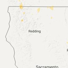 Regional Hail Map for Redding, CA - Sunday, June 25, 2017