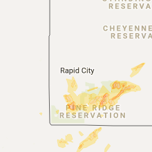 Hail Map for rapid-city-sd 2017-06-27