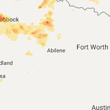 Regional Hail Map for Abilene, TX - Friday, June 30, 2017
